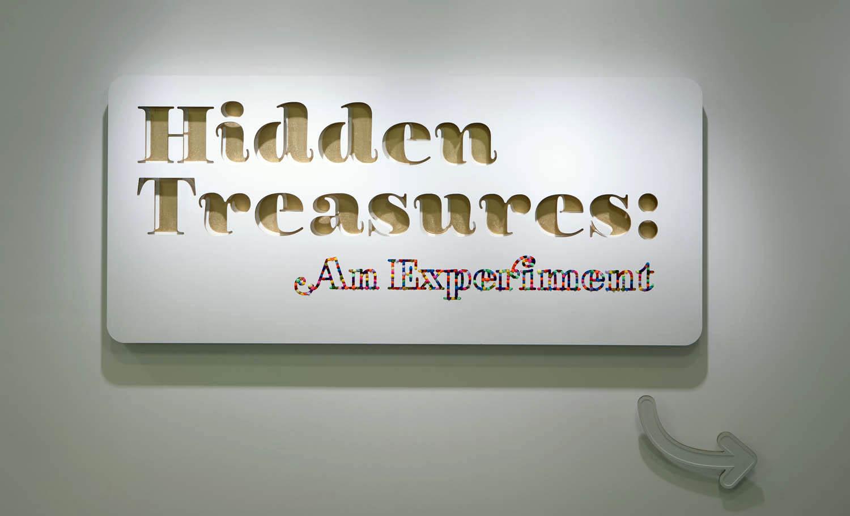 Hidden Treasures title plaque.