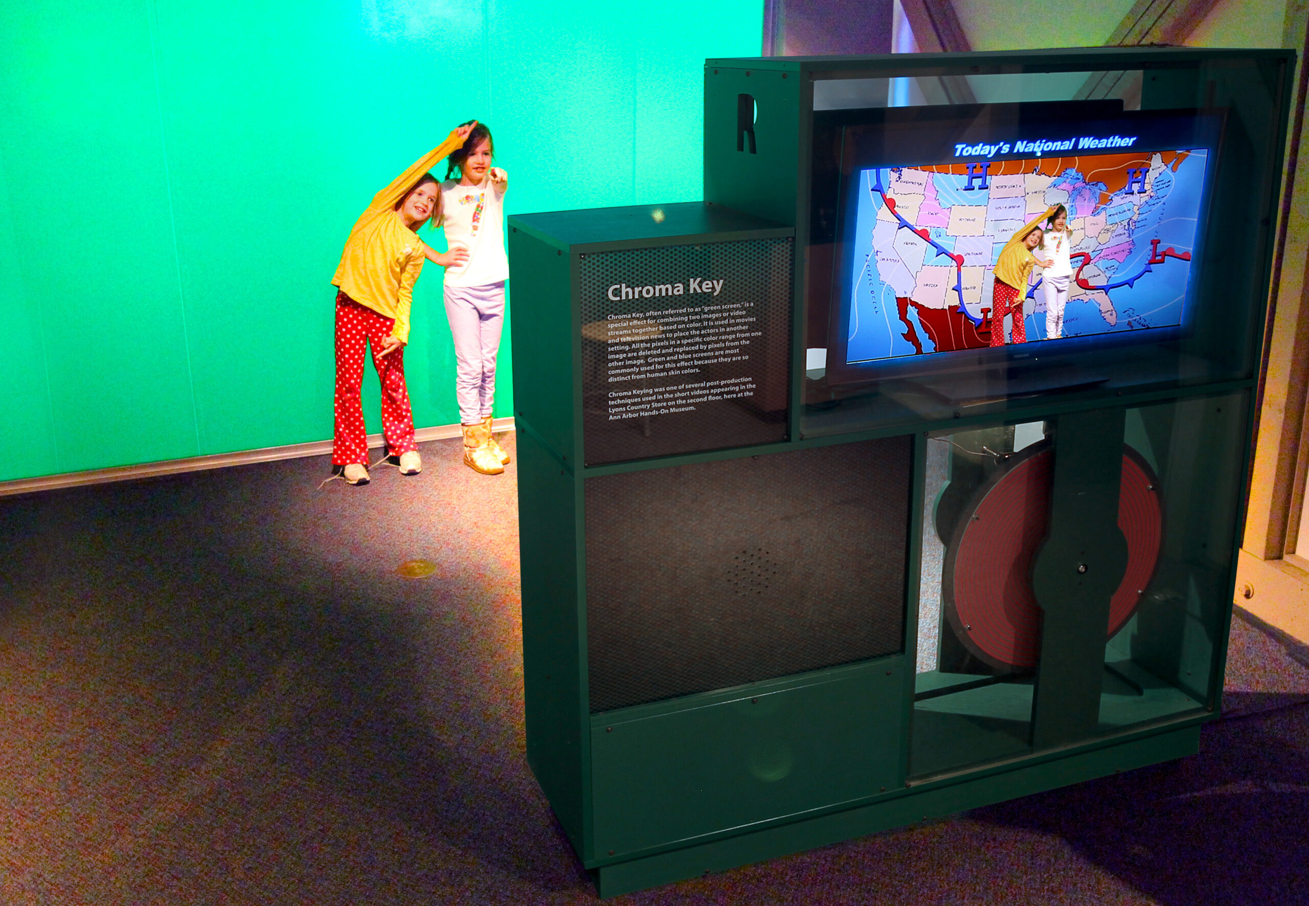 It's more than just a green screen. Pixel Play is an interactive video exhibition unlike any other!