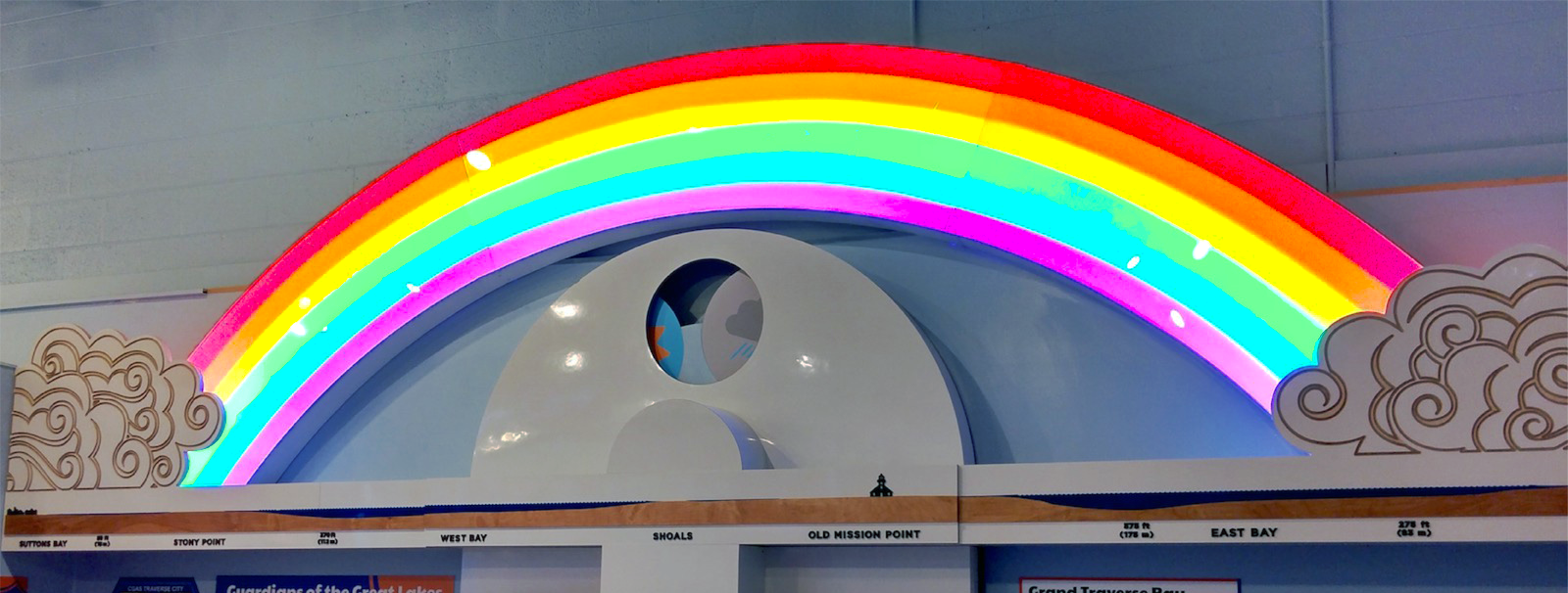 Visitors can get the 16-ft rainbow to light up.