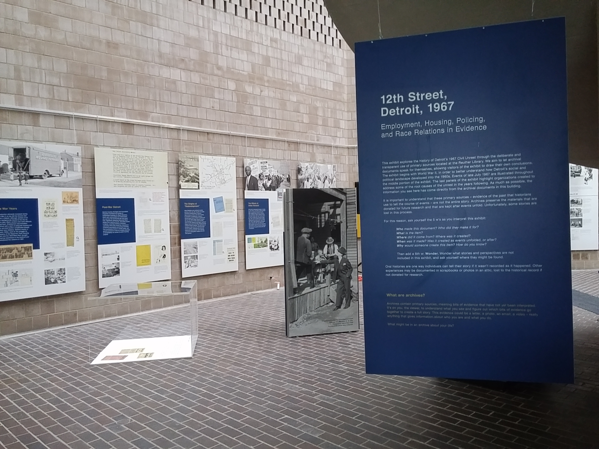 Graphic panels Flutter & Wow designed for the 12th Street Detroit 1967 exhibit.
