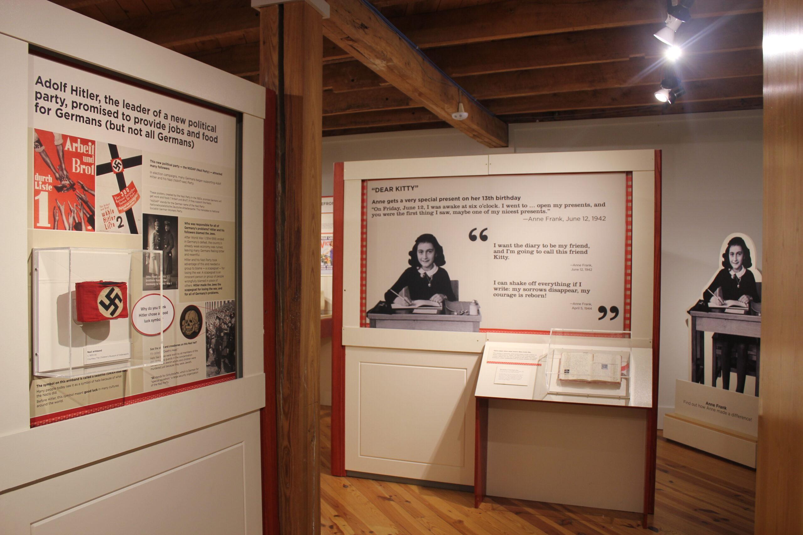 Detail of the Anne Frank exhibit in Power of Children.