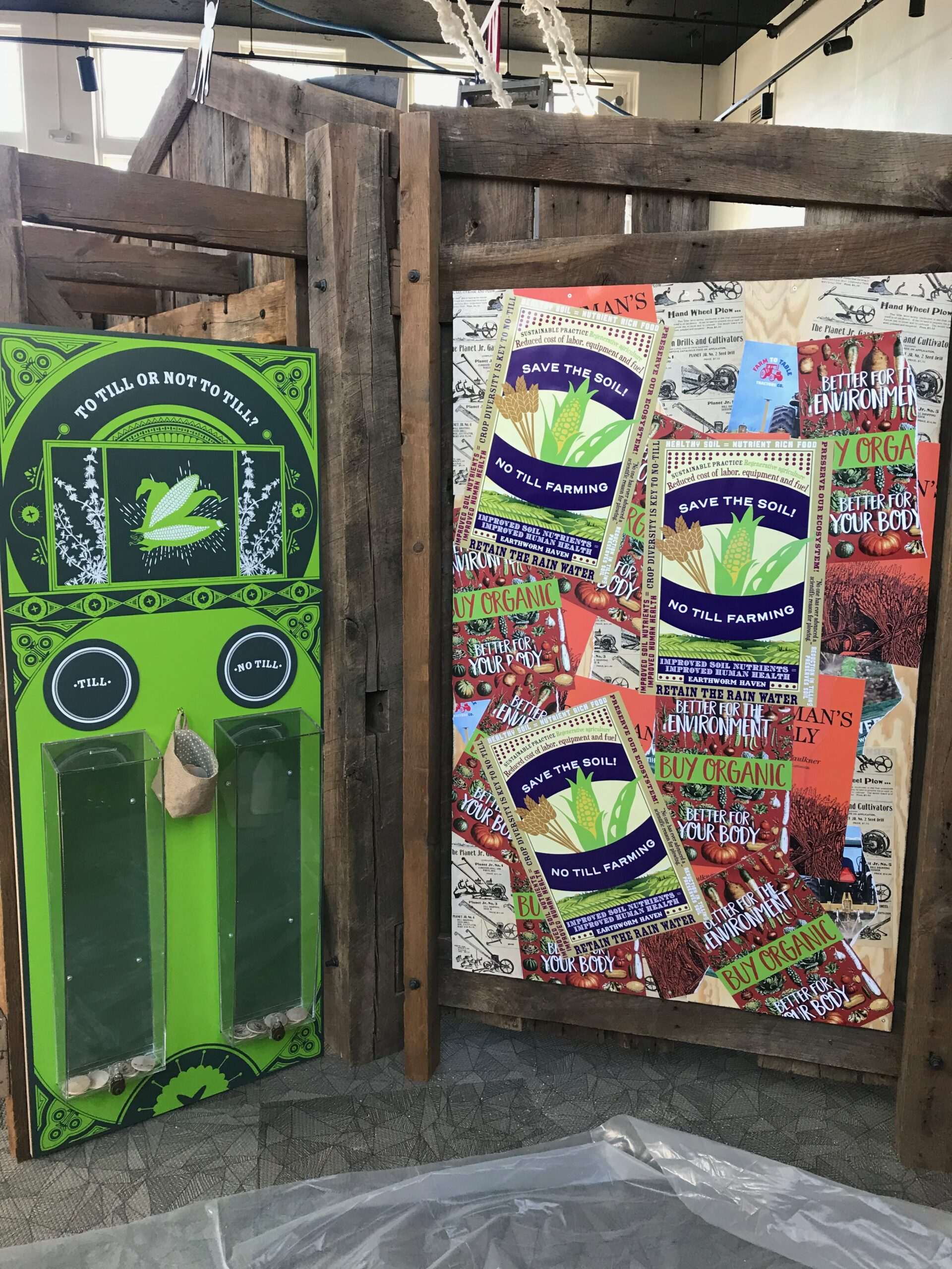 Voting kiosks allow the visitor to vote on controversial topics.