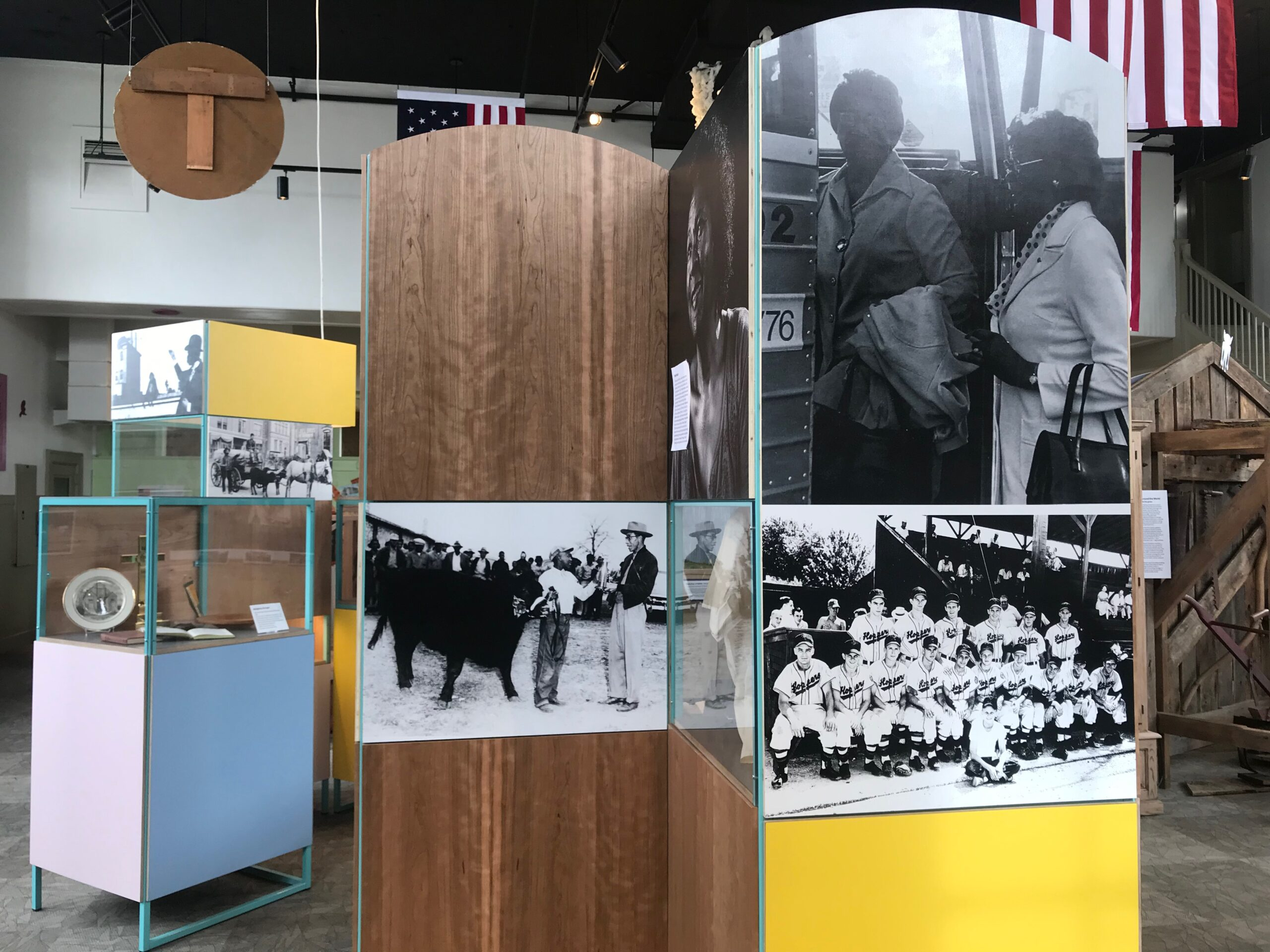 Photos from the museum catalog documenting life around Hopkinsville help the space feel more inclusive.