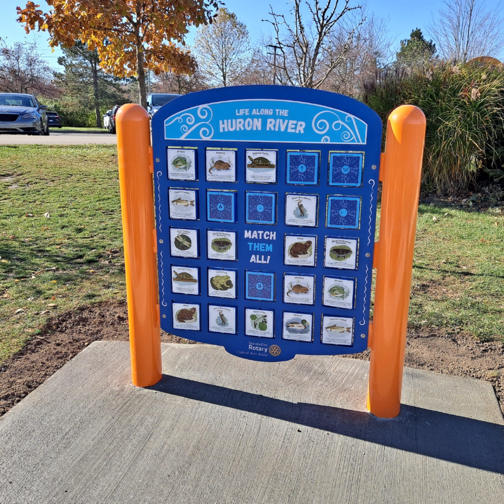 This concentration sign Flutter & Wow designed encourage nature exploration.