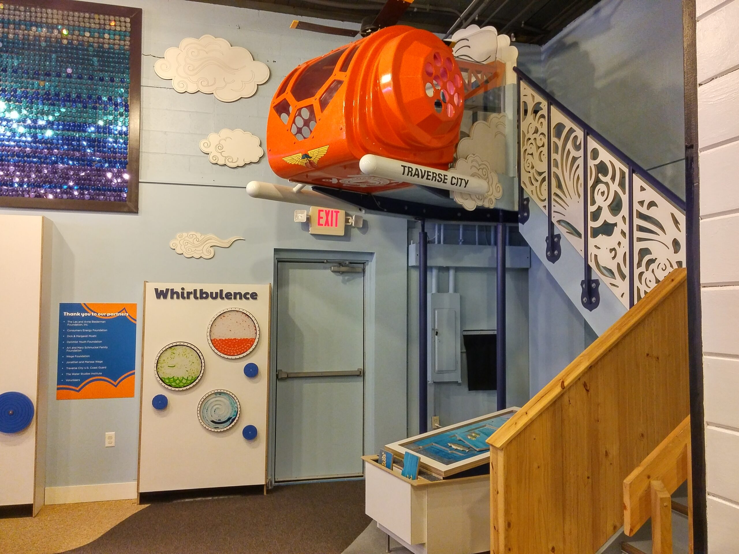Wide angle view of the final installation of the Great Lakes Children's Museum.