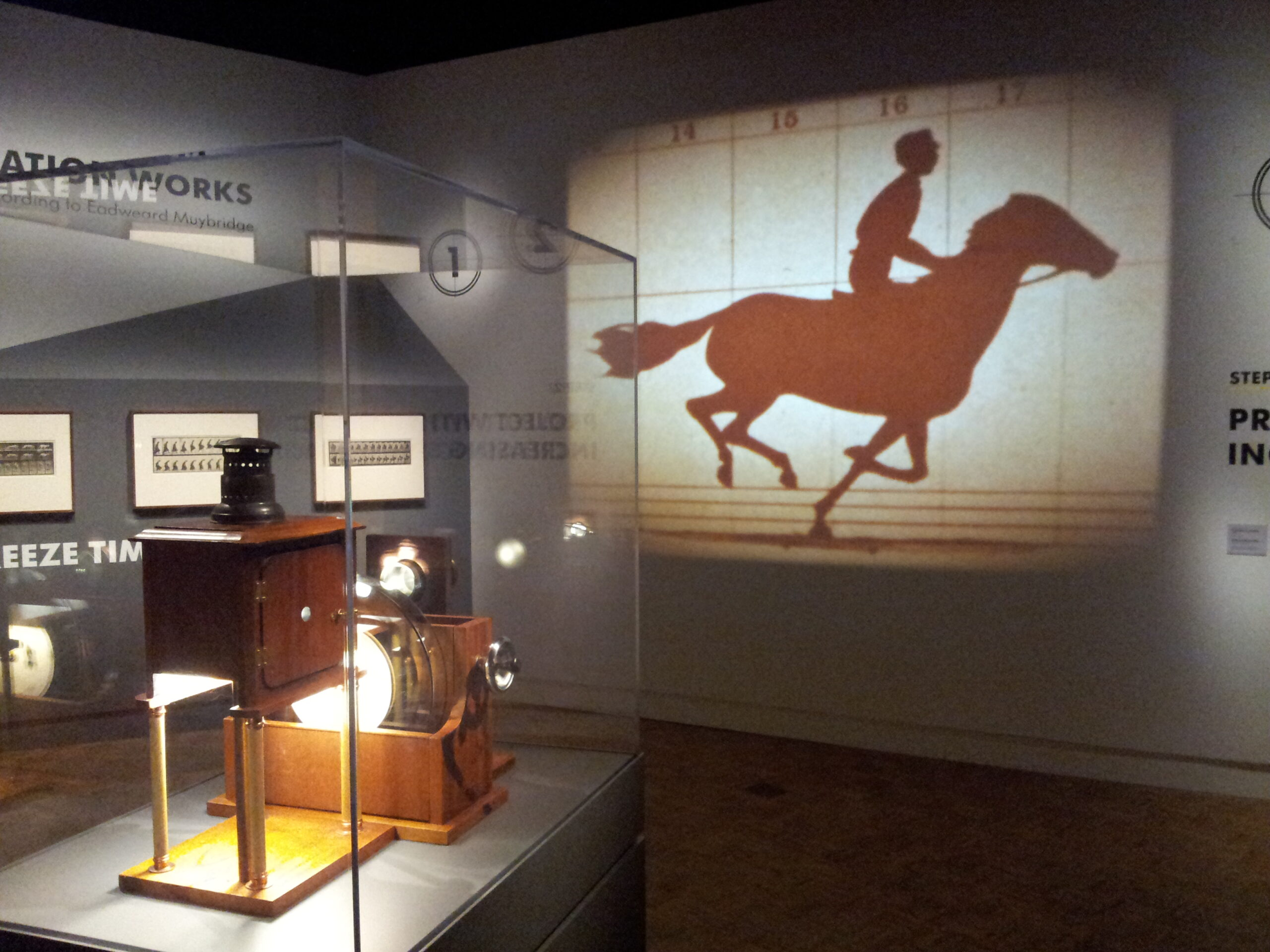 Zoopraxiscope installed at the Detroit Institute of Arts.