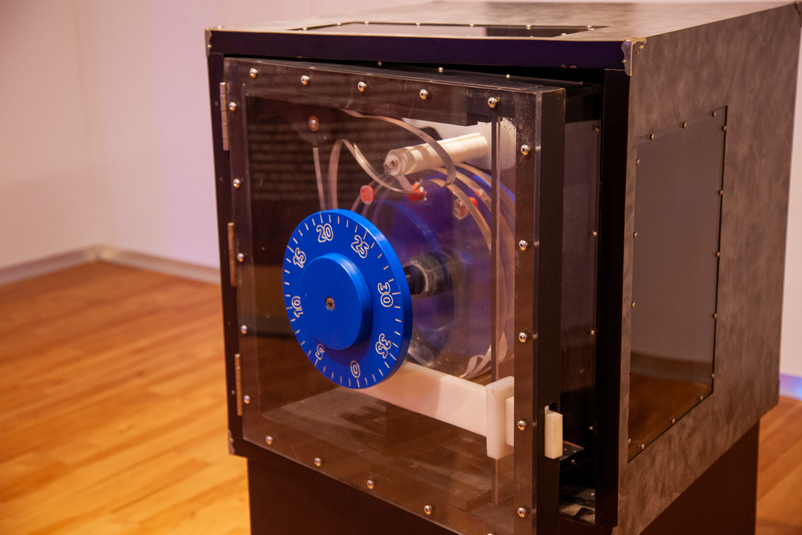 Learn how the inner workings of a safe operates with this unique see-through safe exhibit.