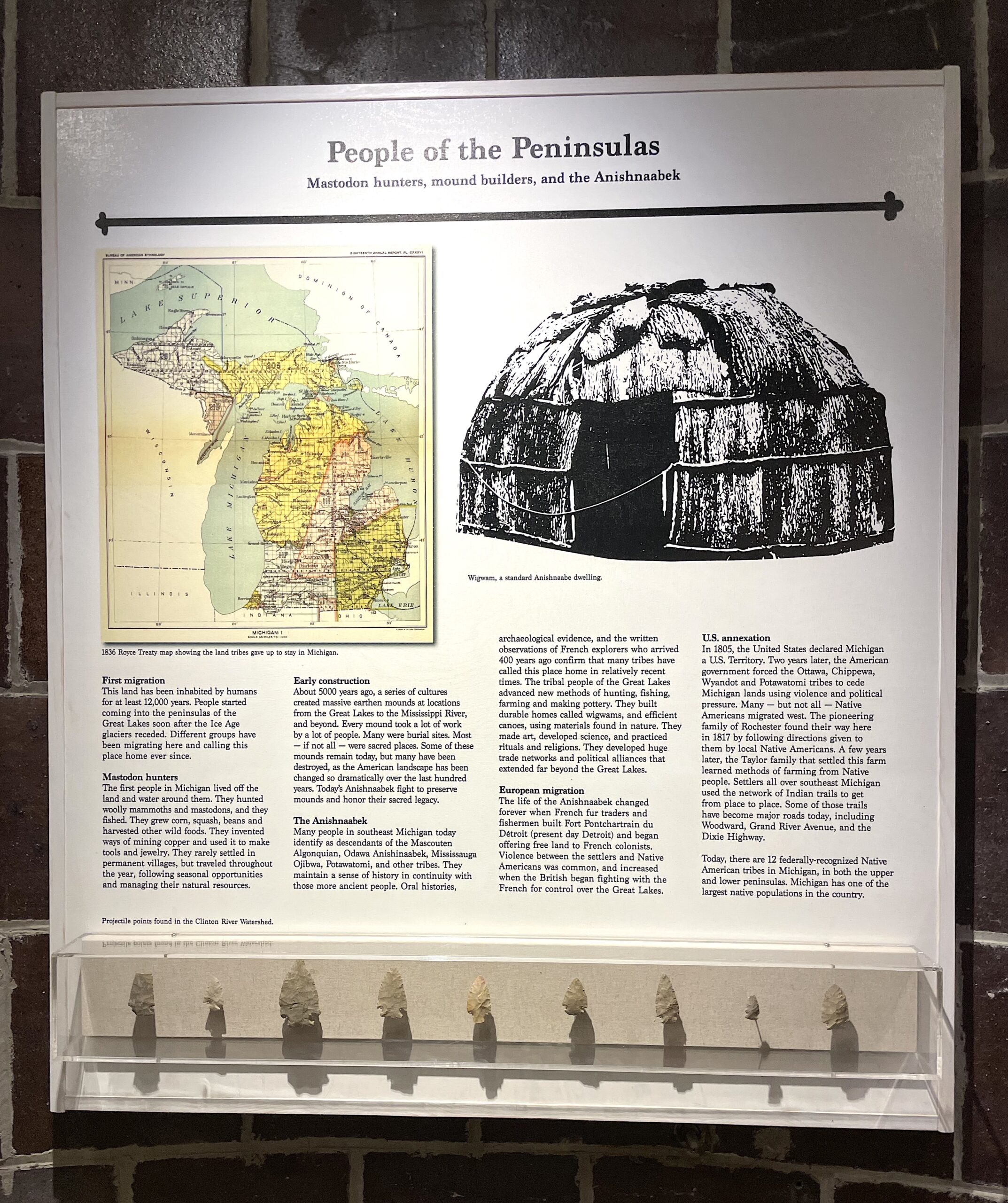 People of the Peninsula uses object display and text to delve into Michigan's rich Native American history.
