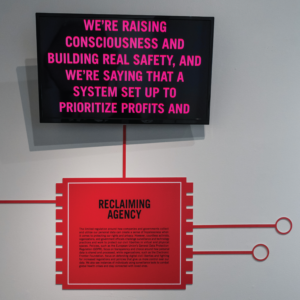 Graphic microchip explaining the idea of Reclaiming Agency: the limited regulation around how companies and governments collect and utilize our personal data can create a sense of hopelessness when it comes to protecting our rights and privacy. However, countless activists, organizations, and government officials challenge surveillance and technology practices and work to protect our civil liberties in virtual and physical spaces.